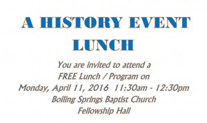 History Lunch Event