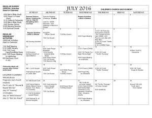 July2016 Calendar